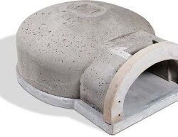 Refractory dome, hearth and arch are all part of the backyard pizza oven kit offered by Armil CFS.